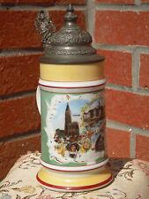chope en porcelaine vue de Strasbourg fond lithophanie