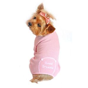 Doggie Design Thermal Sweet Dreams Dog Pajamas  Pink  XS-S-M-L