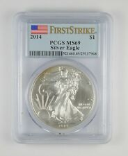 MS69 2014 American Silver Eagle - First Strike - Graded PCGS *128