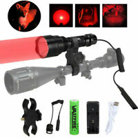 Tactical Green Red White Flashlight Hunting Predator Torch Pressure Switch Mount