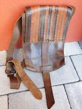 vintage SACOCHE sac à main CARTABLE en CUIR old LEATHER BAG Ledertasche HANDBAG