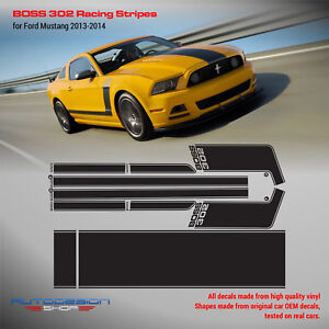 Boss 302 Racing Stripes for Ford Mustang 2012 2013 2014