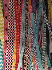 Lot Of 50+ Grosgrain Ribbon Remnants Grab Bag