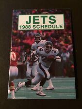 New York Jets 1988 NFL pocket schedule - ReMax