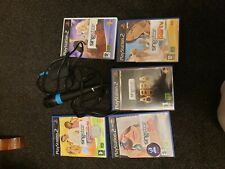 used playstation 2 micro phone with 5  games