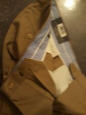 NEW Signature Mens Non-Iron Classic Fit 36 x 34 100% cotton pants Khaki/biscuit