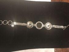 "Magnolia and Vine Bracelet (new) So Charming Locket Bracelet 7""-8.5"" S0612"