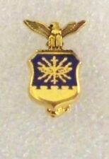 US Air Force insignia hat/lapel pin, joint and catch ,gold plated,