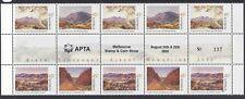 "Australia 2002 Albert Namatjira Gutter Block Stamps O/Pt ""APTA Melbourne Show"""