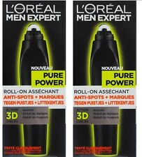 2 x Loreal L'Oreal Paris Men Expert Pure Power Targeting Roll-On 100% Brand New