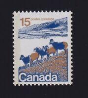 Canada Sc #595vi (1972) 15c Mountain Sheep Hibrite Paper Mint VF NH