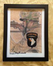 Wild Bill Signed Sketch 101st Airborne