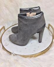 FENDI Booties High Heel Ankle Boots Gray Grey  Women's Size 35.5 US 5.5