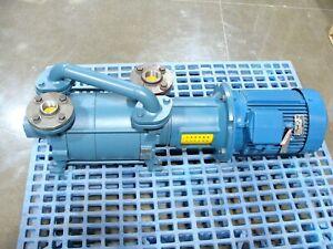 New Travaini TRHE 40-190/C/F Two Stage Liquid Ring Vacuum Pump W/ 9kW Stromberg