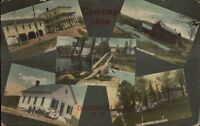 Oakesville NY Multi-View Greeting c1910 Postcard