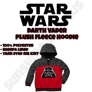 Disney STAR WARS Kids Childrens Full Zip Sherpa Hoodie  - NWT