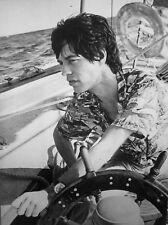 MICK JAGGER Hawaiian Shirt boat clippings Rolling Stones nautical B&W photos 2