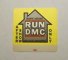 1988 OTTO UNUSED RUN DMC BACKSTAGE PASS - AFTER SHOW UNUSED NEAR MINT