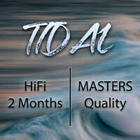 Tidal HiFi / Masters Quality / 2 Months / Free Worldwide Shipping