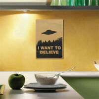 """I Want To Believe"" Vintage Classic X FILES Poster Home Decor Wall Stickers"