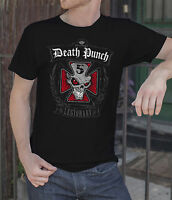 Five Finger Death Punch Men Black T-shirt Metal Band FFDP Rock Band Tee Shirt