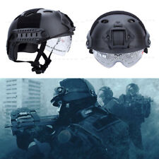 Military Tactical Airsoft Paintball SWAT Protective FAST Helmet Hat W. Google