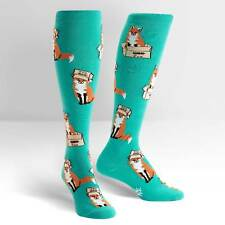 Sock It To Me Women's Funky Knee High Socks - Foxes in Boxes