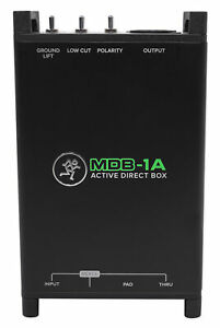 Mackie MDB-1A Active Direct Box DI Box For Ultra-low Noise and Distortion