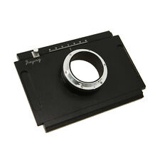 Moveable 4x5 Large Format Camera to Canon EOS  Adapter plate for DSLR