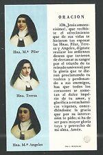 Holy card relics reliquia Martires Guerra Civil Española santino image pieuse