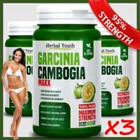 180 GARCINIA Ultra Pure Lose Weight Loss Diet Pills 95% 3000mg Slimming Capsules