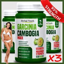 180 GARCINIA Ultra Pure Lose Weight Loss Diet Pills 95% 3000mg Slimming Capsules
