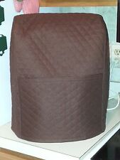 5 qt - Chocolate brown Quilted mixer cover that fits the kitchen aid mixer