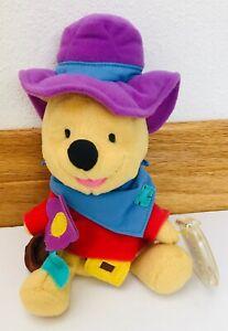"Mattel Star Bean Ride'em Cowboy Pooh 8"" Plush Bear ~ NEW!"