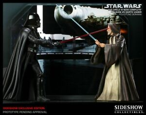 THE CIRCLE IS NOW COMPLETE DARTH VADER VS OBI WAN EXCLUSIVE STATUE SIDESHOW #4