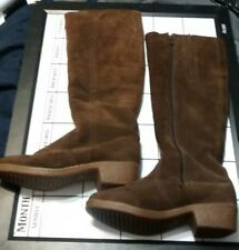 Morland's Boots Size us 5 1/2  Brown Suede Leather Waterproof Sheepskin  England