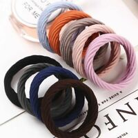 5x Colors Elastic Rubber Girl Hair Ties Band Rope Ponytail Holder Fashion Women