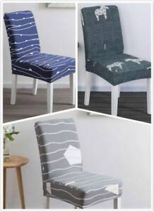 Family Restaurant Seat Package Chair Cover Printed Stretch Hood Cushion DP