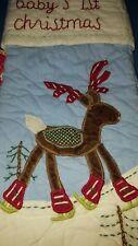 New BABY'S 1st CHRISTMAS Reindeer Stocking Pottery Barn Kids vintage