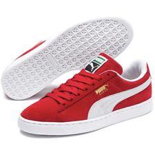 Puma Suede Classic + Men's Athletic Sneaker Red Skate Shoe Casual Footwear