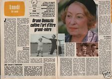 Coupure de presse Clipping 1985 Orane Demazis   (2 pages)