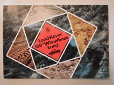 "LAND ROVER 109"" WHEELBASE LONG orig 1974 UK Mkt Sales Brochure"
