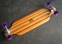 "40"" Longboard Skateboard ""Big Foot"" crafted in Recycled Timber by Robinwood"