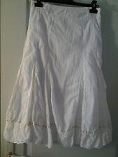 F DE LA PASSION Superbe jupe longue blanche dentelle Bohoo chic shabby  taille36