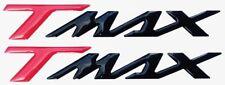 2 ADESIVI-STICKERS RESINA 3D SCRITTA TMAX per SCOOTER MOTO YAMAHA T MAX 500-530