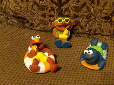 VHTF Muppets Sesame Street SQUIRT PALS Bath Float Toys Elmo, Cookie & Ernie