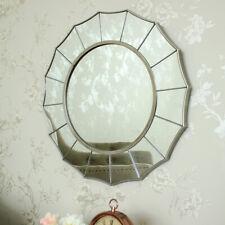 Silver sunburst art deco wall mirror shabby ornate chic bedroom bathroom vanity