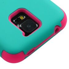 2014 FOR Samsung Galaxy S5 S 5 SV PINK TEAL GREEN TUFF RUBBER HYBRID CASE COVER