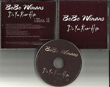 BEBE WINANS Do you Know Him RARE RADIO VERSION & INSTRUMENTAL PROMO DJ CD Single