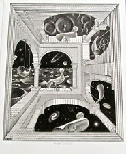 M C Escher Another World Poster  16x11 Offset Lithograph 10 1/2 by 8 image size